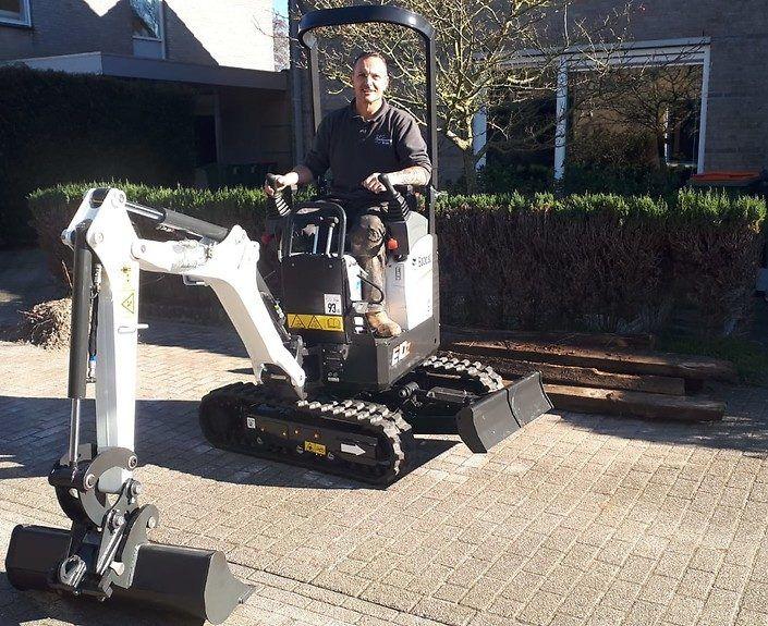 Sierbestrating Breda - Graafmachine